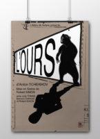 Affiche-Axelle-Picard-Toulouse-graphisme-l-ours-tchekhov